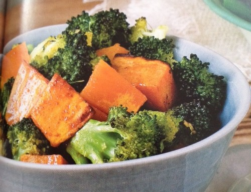 Spiced broccoli sweet potato